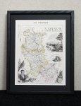 古地図 フランス  ロワール地方 1870年