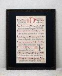 『グレゴリオ聖歌 16世紀 手書きカリグラフィ』 一葉 A