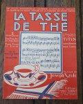 アンティーク楽譜 La Tasse de The 1920年