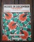 アンティーク楽譜 12月のバラ 1938年