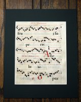 『グレゴリオ聖歌 手書きカリグラフィ』羊皮紙 一葉 S