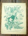 アンティーク楽譜 きらめくワイン!... 19世紀後半