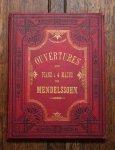 メンデルスゾーン 序曲集 4手のための 1890年頃 アンティーク楽譜