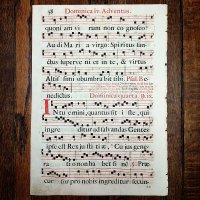 グレゴリオ聖歌 1700年頃 活版印刷 一葉 C