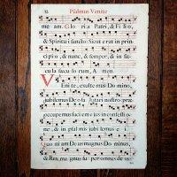グレゴリオ聖歌 1700年頃 活版印刷 一葉 E