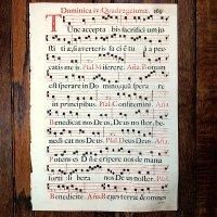 グレゴリオ聖歌 1700年頃 活版印刷 一葉 G