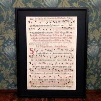 グレゴリオ聖歌 1700年頃 活版印刷 一葉 H