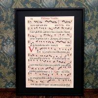 グレゴリオ聖歌 1700年頃 活版印刷 一葉 I