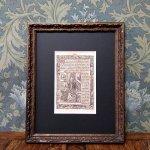時祷書 木版印刷 1519年 ドイツ 一葉 A