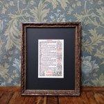 時祷書 木版印刷 1519年 ドイツ 一葉 C
