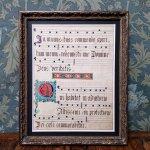グレゴリオ聖歌 c.a.1700年 手書きカリグラフィ 手彩色 一葉