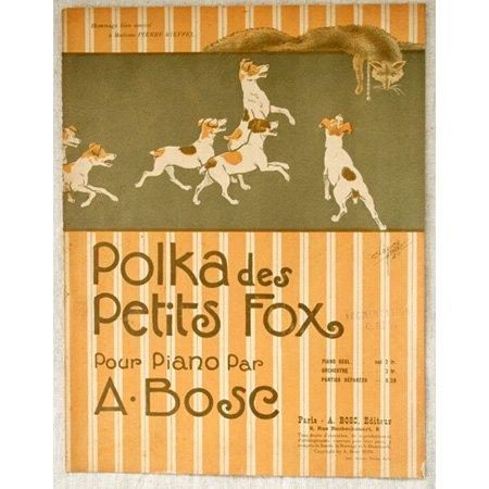 アンティーク楽譜: 《フォックス・テリアのポルカ》