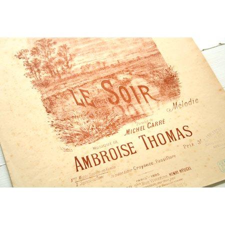 トマ,アンブロワーズ 歌曲『夕べ』