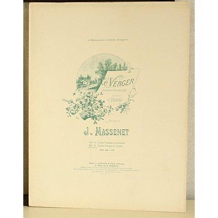 マスネ,ジュール  『果樹園−古い民謡より』 アンティーク楽譜