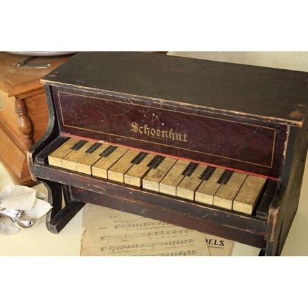 アンティーク トイピアノ シェーンハット 12鍵 1900年代 木目