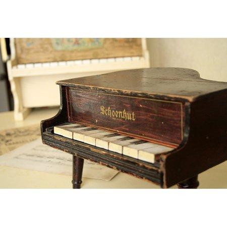 アンティーク トイピアノ シェーンハット 8鍵 1900年代 グランドピアノ型