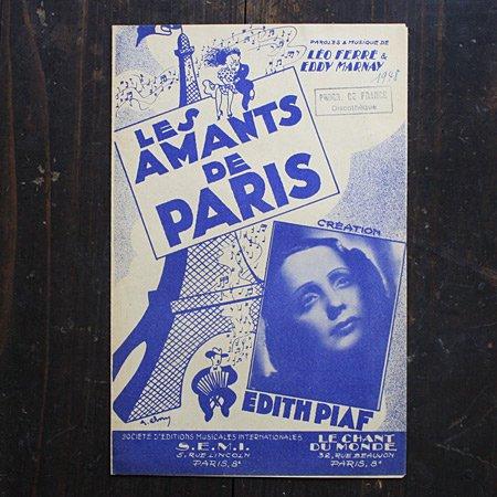 アンティーク楽譜:エディット・ピアフ 《パリの恋人たち》