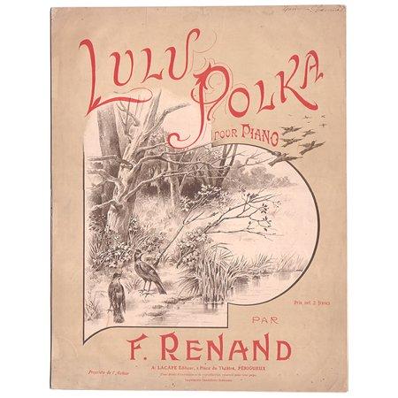 アンティーク楽譜 《リュリュポルカ 》  ピアノピース