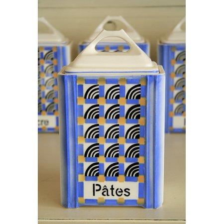 アンティークキャニスター 陶器 Pates(パスタ)