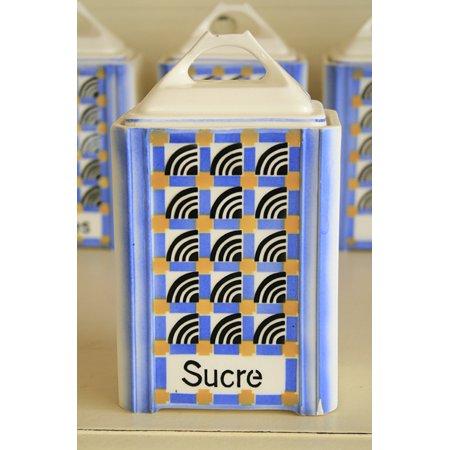 アンティークキャニスター 陶器 Sucre(砂糖)