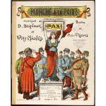 アンティーク楽譜 『平和へのマーチ!』 『マルヌの男たち』