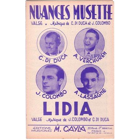 コロンボ, ジョゼフ 《Nuances Musette/ Lidia 》ワルツ・ミュゼット