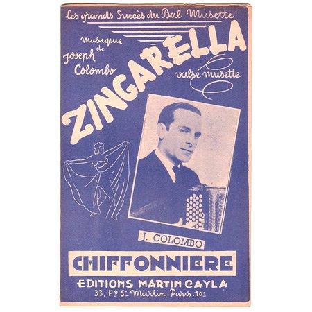 コロンボ, ジョゼフ 《Zingarella / Chiffonniere》 ワルツ・ミュゼット