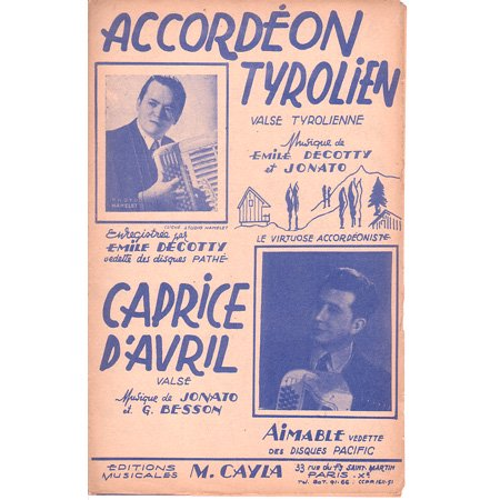 ワルツ 《Accordeon tyrolien/ Caprice d'avril》