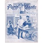アンティーク楽譜: 音楽雑誌 《歌うパリ》 1903年5月号