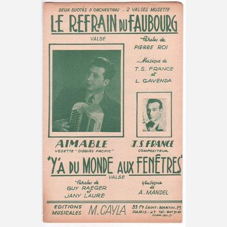 エマーブル 《Le Refrain du Faubourg / Y'a du monde aux fenetres》