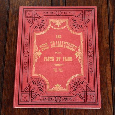《フルートとピアノのための劇音楽集 Vol.VIII 》 アンティーク楽譜