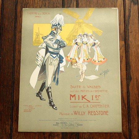 アンティーク楽譜:《Mik 1er》