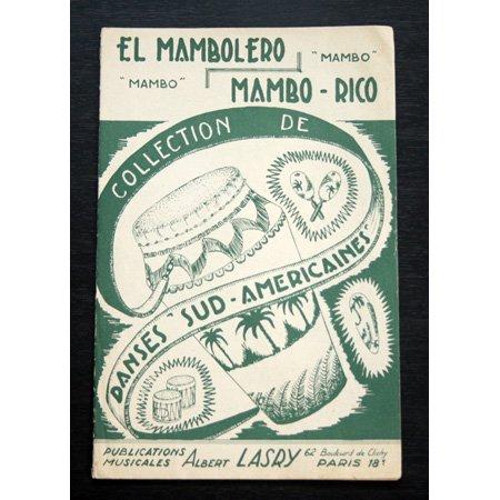 アンティーク楽譜:《El Mambolero Mambo + Mambo-Rico》