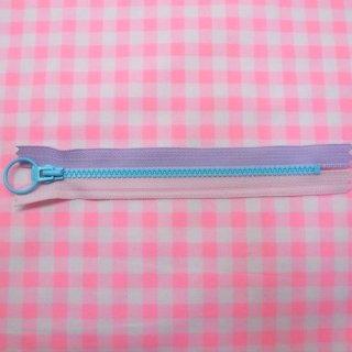 ポップファスナー2nd ブルー(15cm)