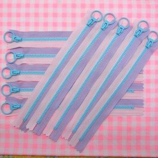 ポップファスナー2nd ブルー(20cm) 10本まとめ買いセット