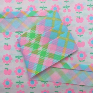 ☆Winter Sale☆ バイアステープ Lovely Check 3yard〜 ライトブルー 【10%OFF】