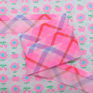☆Winter Sale☆ バイアステープ Lovely Check 3yard〜 プリティーピンク 【10%OFF】