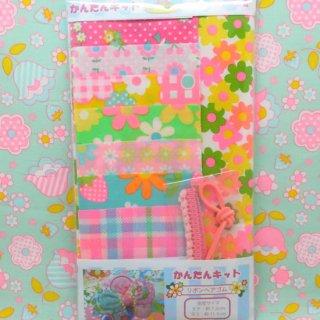 pinksオリジナルかんたんキット リボンヘアゴム 9512