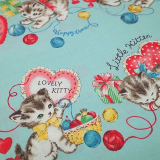 <img class='new_mark_img1' src='https://img.shop-pro.jp/img/new/icons12.gif' style='border:none;display:inline;margin:0px;padding:0px;width:auto;' />セレクト生地 Kittens Party (ブルー)  約50cm×110cm カット済み