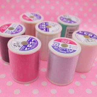 レジロン 7色まとめ買いセット ニット伸縮性布地専用 ミシン糸 #50 【5%OFF】