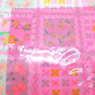 透明ビニールクロス ピンク 50cm×45cm