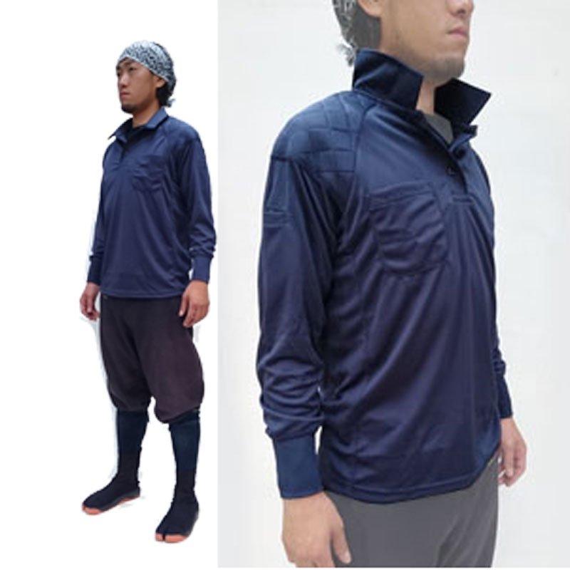 鳳皇 肩パット入りポロシャツ