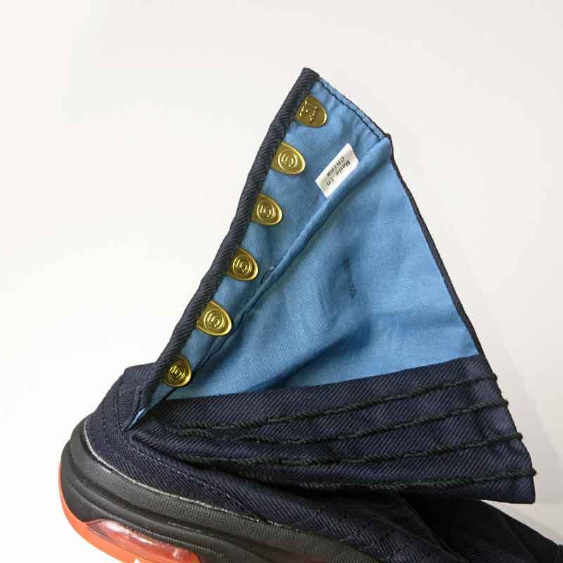 丸五 エアージョグ足袋 藍色 こはぜ6枚【画像4】