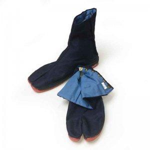 足袋・脚絆 丸五 エアージョグ足袋 藍色 こはぜ6枚