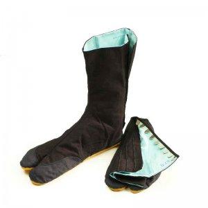 足袋・脚絆 きねや 青縞地下足袋 こはぜ10枚