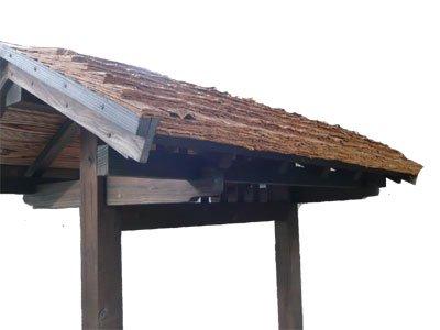 垣根・屋根材用 天然杉皮2尺(1坪分)【画像7】