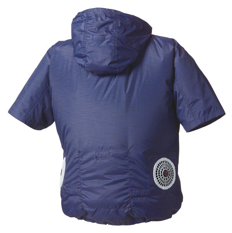快適ウェア 半袖フードジャケット 【画像2】