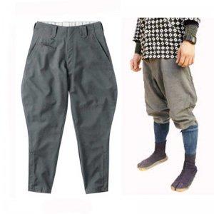 庭職衣装(足袋・脚絆・手甲・乗馬ズボン、他) 鳳皇 乗馬ズボン(サージ生地・グレー)