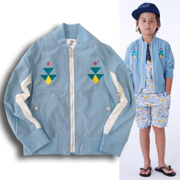 highking ハイキングsk-1 jacketテフロン加工の刺繍入りエスケーワンジャケットサックスブルー