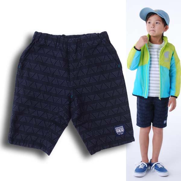 highking ハイキングcraft shorts刺し子風生地のクラフト ショーツネイビー